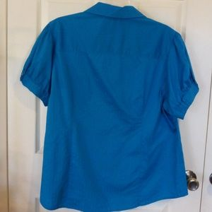 George Tops - Turquois Button up blouse